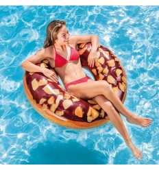 Intex Inflatable Swim Donut Ring Tube Float - Nutty Chocolate